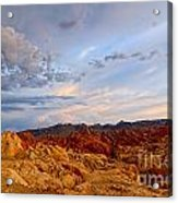 Sunset Over Valley Of Fire State Park In Nevada Acrylic Print