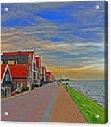 Sunset Over Volendam Acrylic Print