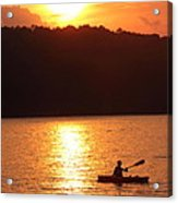 Sunset Paddle Acrylic Print