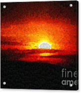 Sunset Painting Acrylic Print