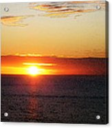 Sunset Painting - Orange Glow Acrylic Print