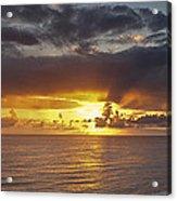Sunset Panorama Acrylic Print by Andrew Soundarajan