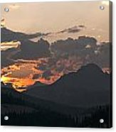 Sunset Panorama Banff National Park Acrylic Print