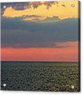 Sunset Panorama Over Atlantic Ocean Acrylic Print