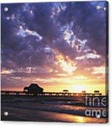 Sunset Pier 66 Acrylic Print