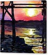 Sunset Pier Acrylic Print
