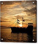 Sunset Pirate Cruise Acrylic Print