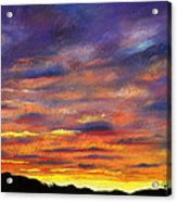 Sunset Acrylic Print by Prashant Shah