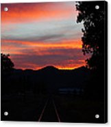 Sunset Rail In The Rogue Valley Acrylic Print