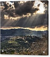 Heavens Lights Over Jerusalem Acrylic Print