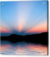 Sunset Rays Over Island Acrylic Print
