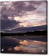 Sunset Reflected In A Lake Acrylic Print