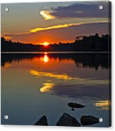 Sunset Reflection On The Lake Acrylic Print