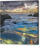 Sunset Reflections Acrylic Print by Robert Bales