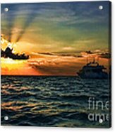 Sunset Regatta  Acrylic Print