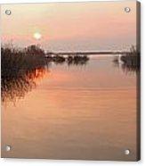 Sunset  River Panorama Acrylic Print by Vitaliy Gladkiy