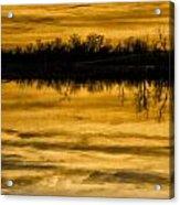 Sunset Riverlands West Alton Mo Sepia Tone Dsc03319 Acrylic Print