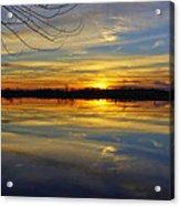 Sunset Riverlands West Alton Mo Dsc03329 Acrylic Print