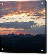 Sunset Rmnp Acrylic Print