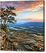 Sunset Rock Lookout Mountain  Acrylic Print