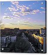 Sunset Row Homes Acrylic Print
