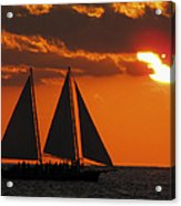 Key West Sunset Sail 3 Acrylic Print
