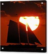 Key West Sunset Sail 5 Acrylic Print