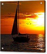 Sunset Sail Venice Florida Acrylic Print