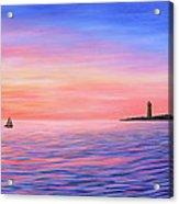Sailing Toward The Lighthouse Acrylic Print