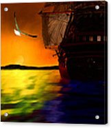 Sunset Sails Acrylic Print by Lourry Legarde