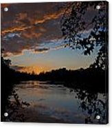 Sunset Scene At The River Acrylic Print