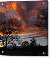 Sunset September 24 2013 Acrylic Print