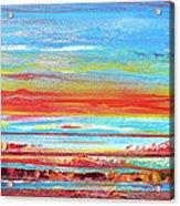 Sunset Series Druridge Bay 1c Acrylic Print by Mike   Bell