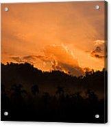 Sunset Silhouette Acrylic Print by Kim Lagerhem