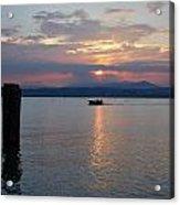 Sunset. Sirmione. Lago Di Garda Acrylic Print