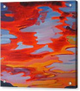 Ruby Red Sunset Acrylic Print