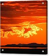 Sunset Sky Fire Acrylic Print