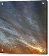 Sunset Sky With Cirrocumulus Clouds Usa Acrylic Print