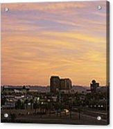 Sunset Skyline Phoenix Az Usa Acrylic Print