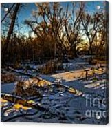 Sunset Snow Acrylic Print by Baywest Imaging