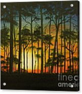 Sunset Over St. Joseph's Peninsula Acrylic Print