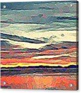 Davis Bay Sunset  Acrylic Print
