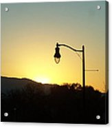 Sunset Street Light Acrylic Print
