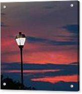Sunset Streetlight Acrylic Print
