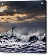 Sunset Surfer Acrylic Print