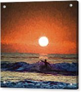 Sunset Surfer Acrylic Print