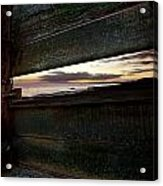 Sunset Throough The Fence Acrylic Print