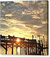 Sunset Through Pier Acrylic Print