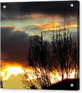 Sunset Through The Clouds Acrylic Print