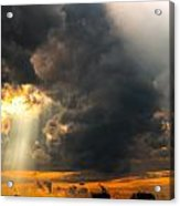 Sunset Thru Clouds Acrylic Print